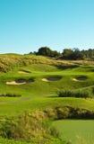 单层高尔夫球插孔 免版税库存照片