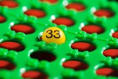 单数- 33 -在宾果游戏委员会 免版税库存照片