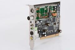 单板计算机内部条频器电视 库存图片