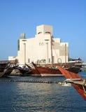 单桅三角帆船前伊斯兰博物馆 库存图片