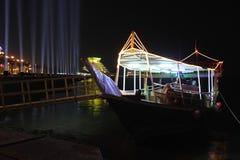 单桅三角帆船通道 免版税库存照片