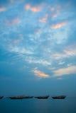 单桅三角帆船钓鱼传统 免版税库存照片