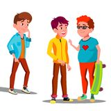 单独哀伤的男孩在朋友少年传染媒介中 按钮查出的现有量例证推进s启动妇女 向量例证