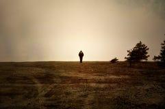 单独在停泊 图库摄影