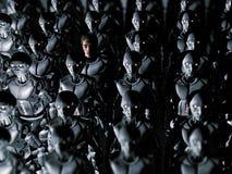 单独在机器人世界 向量例证