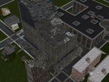 单独在CityCity废墟 库存图片