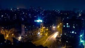 单独城市道路 图库摄影