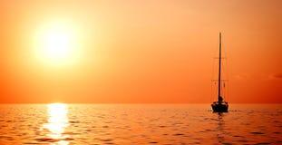单独帆船游艇 图库摄影