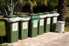 单独废弃物收集的容器 库存图片