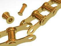 单独残破的链节 向量例证