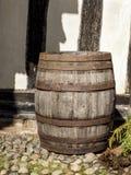 单独站立大传统橡木的桶 库存图片