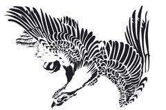 单独老鹰在黑白 图库摄影