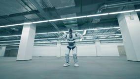 单独跳舞白色的机器人,关闭  股票录像