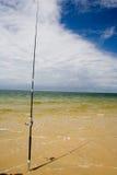 单独钓鱼竿 库存照片