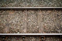 单磁道铁路线在农村乡下 免版税图库摄影