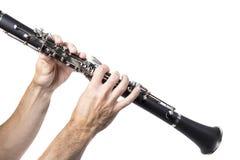 单簧管人使用 库存照片