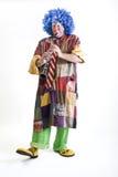 单簧管小丑 库存图片