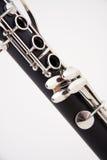 单簧管查出的白色 免版税库存照片