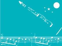 单簧管爵士乐 免版税库存照片