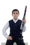 单簧管球员 免版税库存照片