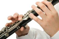 单簧管球员 免版税库存图片