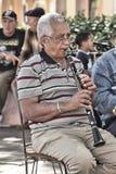 单簧管球员 库存照片