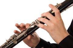 单簧管球员 免版税图库摄影