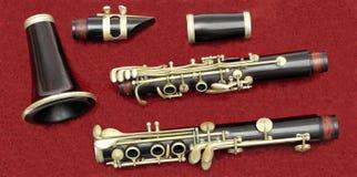 单簧管部分 免版税库存照片