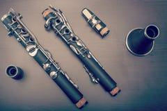 单簧管零件 库存图片
