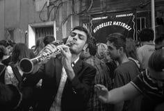 单簧管音乐家Hidirellez值得纪念的事 免版税库存图片
