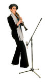单簧管音乐执行者 免版税库存图片
