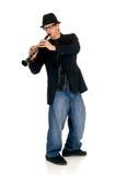 单簧管音乐执行者 图库摄影