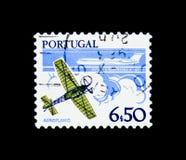 单翼飞机和B A C 一十一班机,技术serie的发展,大约1980年 免版税库存照片