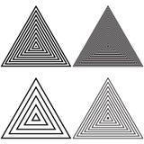 单色几何的三角 皇族释放例证