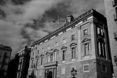 单色巴塞罗那西班牙 图库摄影