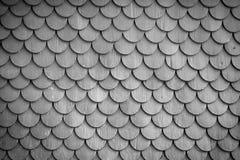 单色木瓦屋顶墙壁纹理背景 免版税库存图片