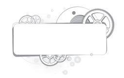 单色的齿轮抽象背景  库存图片