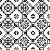 单色种族无缝的背景 在黑白颜色的无缝的纹理 免版税库存照片