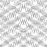 单色镶边线背景 相交的对角单色纹理 无缝的手拉的传染媒介样式 皇族释放例证