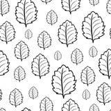 单色黑白无缝的样式 免版税图库摄影