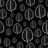 单色黑白无缝的样式 免版税库存照片