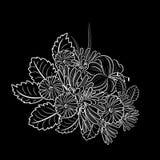 单色黑白构成 免版税图库摄影