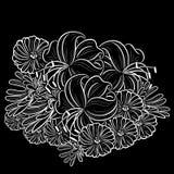 单色黑白构成 免版税库存照片
