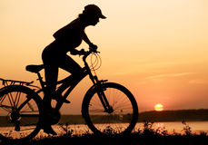 单车手 免版税库存图片