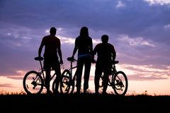 单车手 库存图片