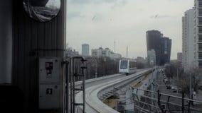 单轨铁路车火车,现代运输技术 股票视频
