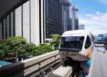 单轨铁路车火车 免版税图库摄影