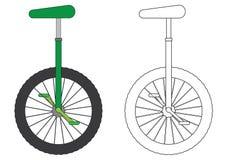 单轮脚踏车,上色页 也corel凹道例证向量 皇族释放例证