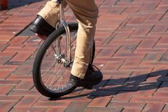 单轮脚踏车 库存照片