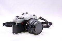 单镜头反射35mm卷筒软片照相机 库存图片
